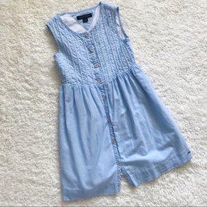 Tommy Hilfiger girls dress blue button down